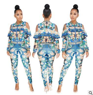 2018 Women Pants Suit 809 S Xxl 2018 New Sexy Digital Printing
