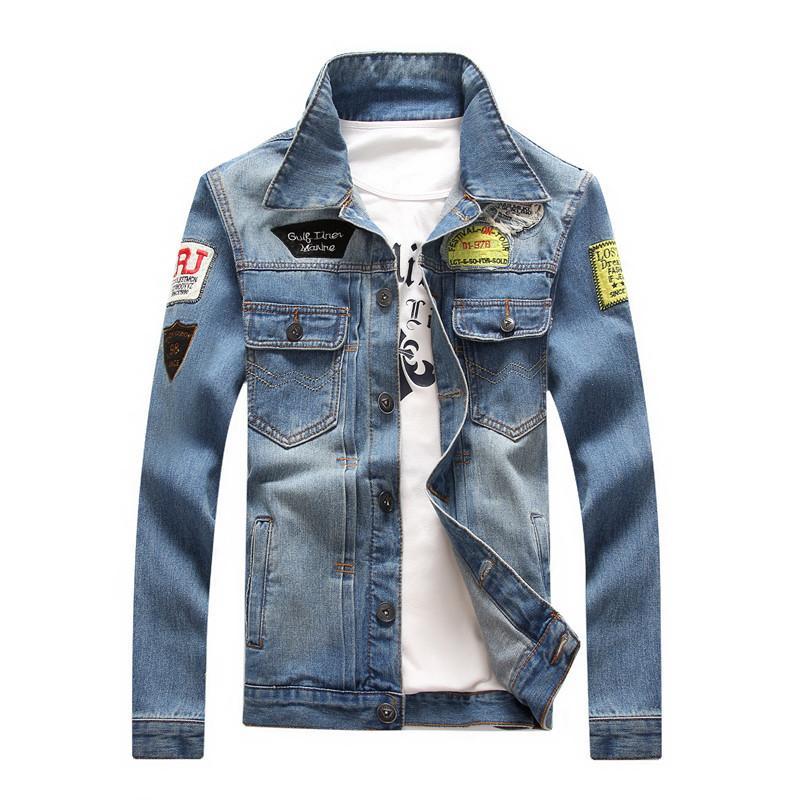 e551b6d5c Veste en jean pour les hommes vestes en jean 2018 printemps manteau col de  fourrure veste pour hommes Jean Blouse plus la taille M-4XL