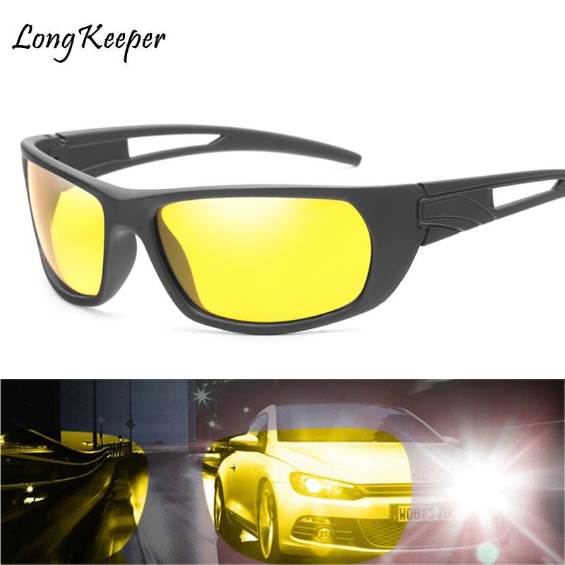 0f7cc7382a45a Long Keeper 2018 New Night Vision Sunglasses Men Brand Fashion Polarized  Night Driving Enhanced Light Anti Glare Glasses For Men Circle Sunglasses  Glass ...