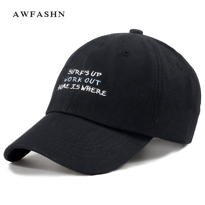 4a5b5f00af9 SURF Letter Embroidered Baseball Caps Black Hip Hop Hat Man Woman Cotton  High Quality Bone Solid Snapback Sport Unisex Gorras Hats For Sale  Neweracap From ...