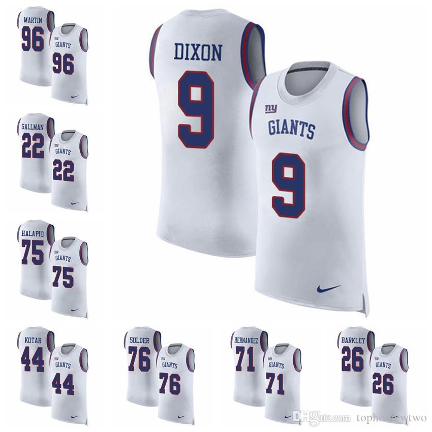 9380ba82f 2019 New York Limited Football Jersey Giants White Rush Player Name    Number Tank Top 10 Eli Manning 13 Odell Beckham Jr.26 Saquon Barkley 96  From ...