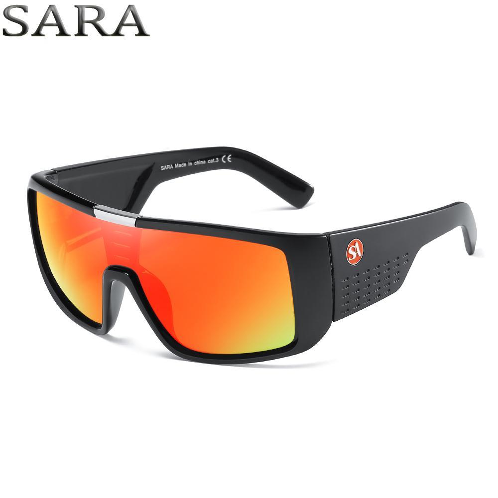 bb6e05132b7 SARA Sunglasses Men Sport Goggle Sun Glasses New 2018 Brand Mens ...