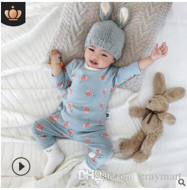 Kids autumn winter thermal underwear set babys pajamas air conditioning clothing house clothings flowers cars animals printing230