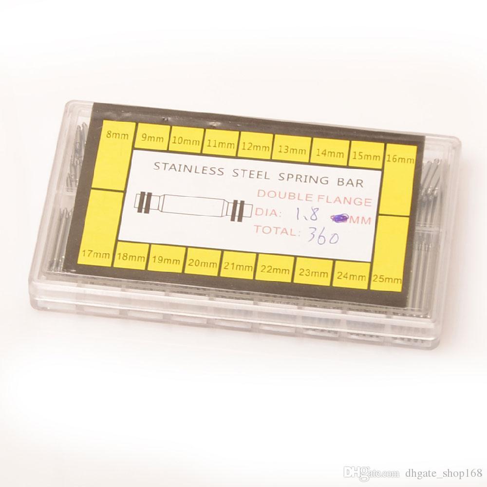 Strumenti di riparazione Cinghia a molla perni di collegamento barra 1.8mm 8m-25m orologio in acciaio inossidabile Barra di primavera perni di collegamento Spessore utensile 1,8 mm