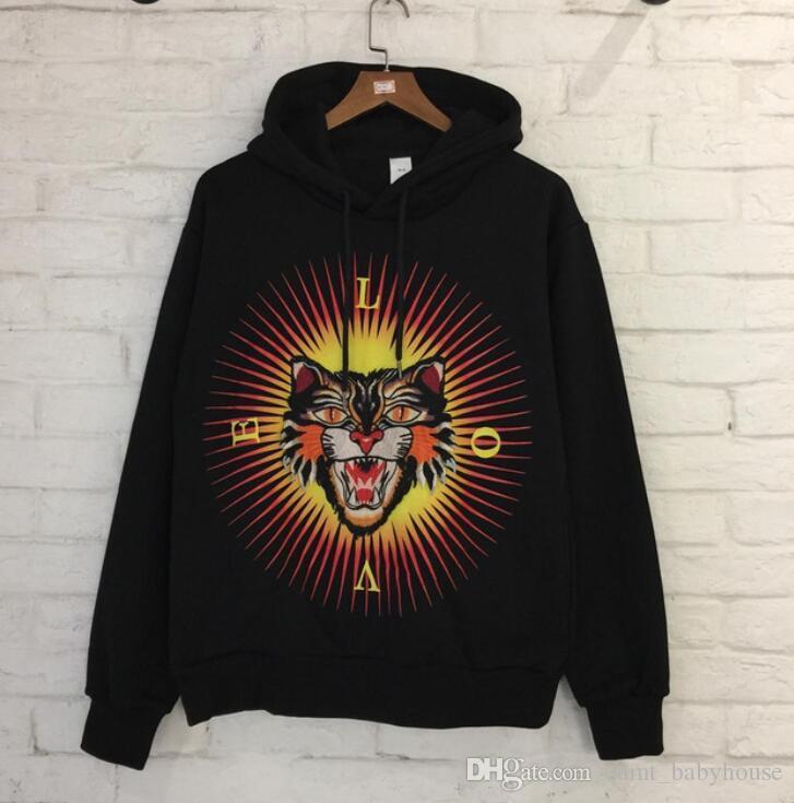 c61e9390dde Tiger Head Hoodies Men Women Embroidery Hip Hop Sweatshirt Cotton Tiger  Hoodies Tracksuit Men Men Sweatshirt Fashion Hoodie Men Online with   119.77 Piece on ...