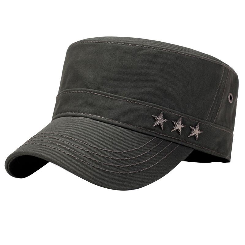 LASPERAL 2018 Men s Cotton Twill Cadet Cap New Arrivals Brand Sun  Protection Adjustable Brand Sun Hats With Stars Headwear Flat Caps From  Enchanting11 14557523644