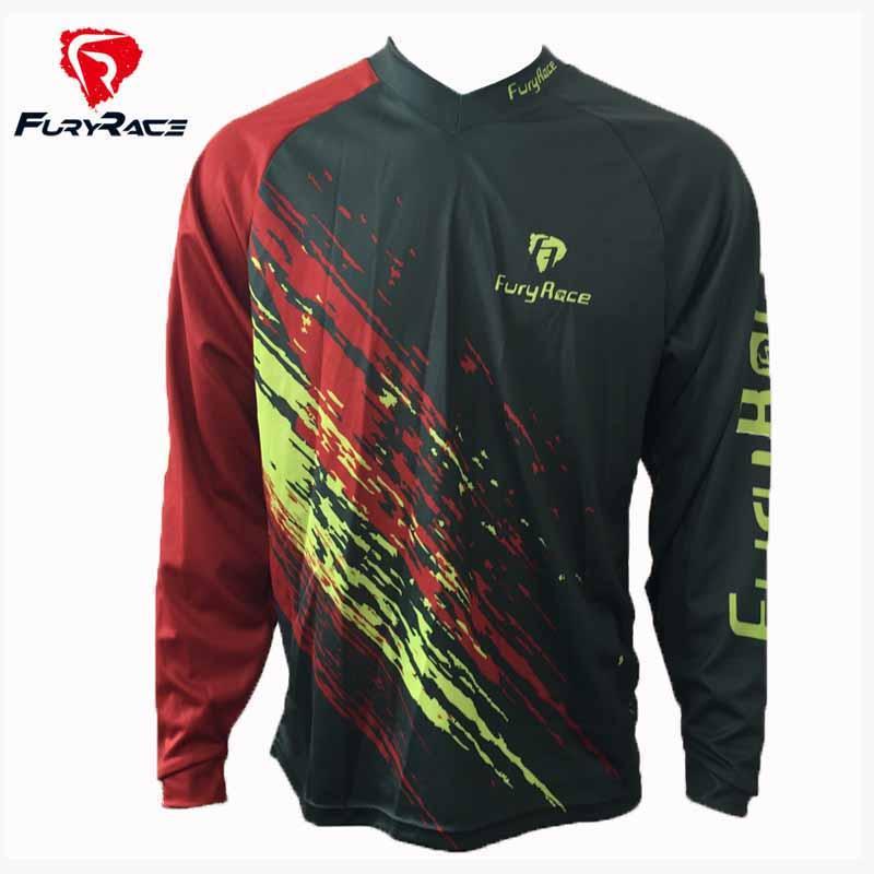 FURY RACE 2017 Men S BMX DH Shirts Mountain Bike MTB Downhill Jerseys  Motorcycle Offroad Motocross Bicycle Racing Riding Clothes Cycling Rain  Jacket Mens ... 65859b01e