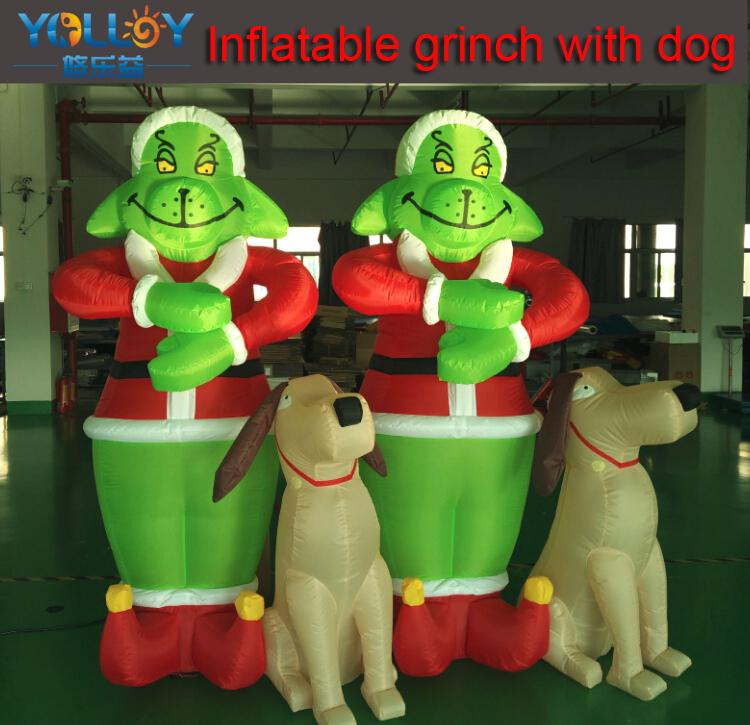 2018 grinch inflatable christmas decorations cartoon grinch easy stock and very cheap high quality from yolloyinflatable 12238 dhgatecom