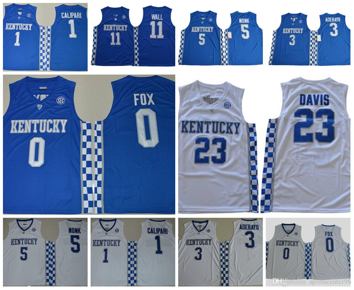 2019 Kentucky Wildcats College Basketball Jerseys 23 Anthony Davis 12 Karl  Anthony Towns 15 DeMarcus Cousins 11 John Wall 1 Devin Booker 4 Rondo From  ... 39bfb9835