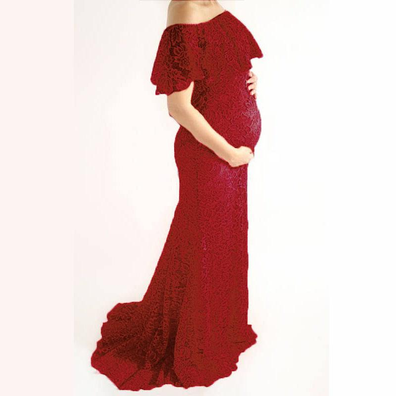 bc7e66cd4fbdd 2019 Pregnancy Dresses For Pregnant Women Maternity Photography Props Lace  Shoulderless Tailed Maternity Dresses For Photo Shoot From Paradise02, ...