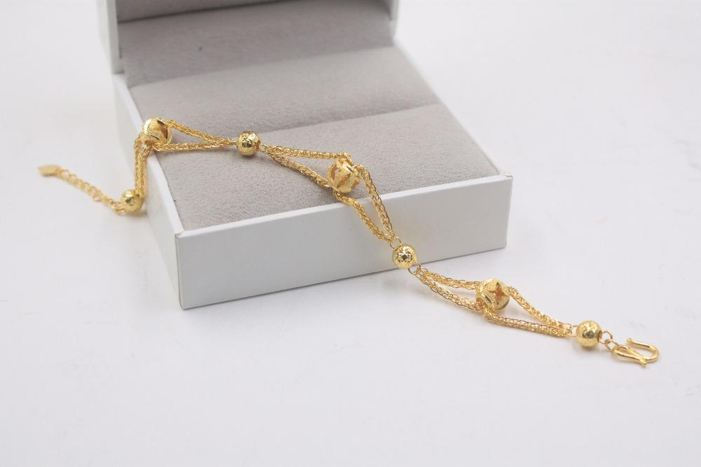 d3937ec78 2019 Fine Style Real 999 24K Yellow Gold Women 's Lucky Ball Bracelet 10  10.5g From Junemay, $1334.26 | DHgate.Com