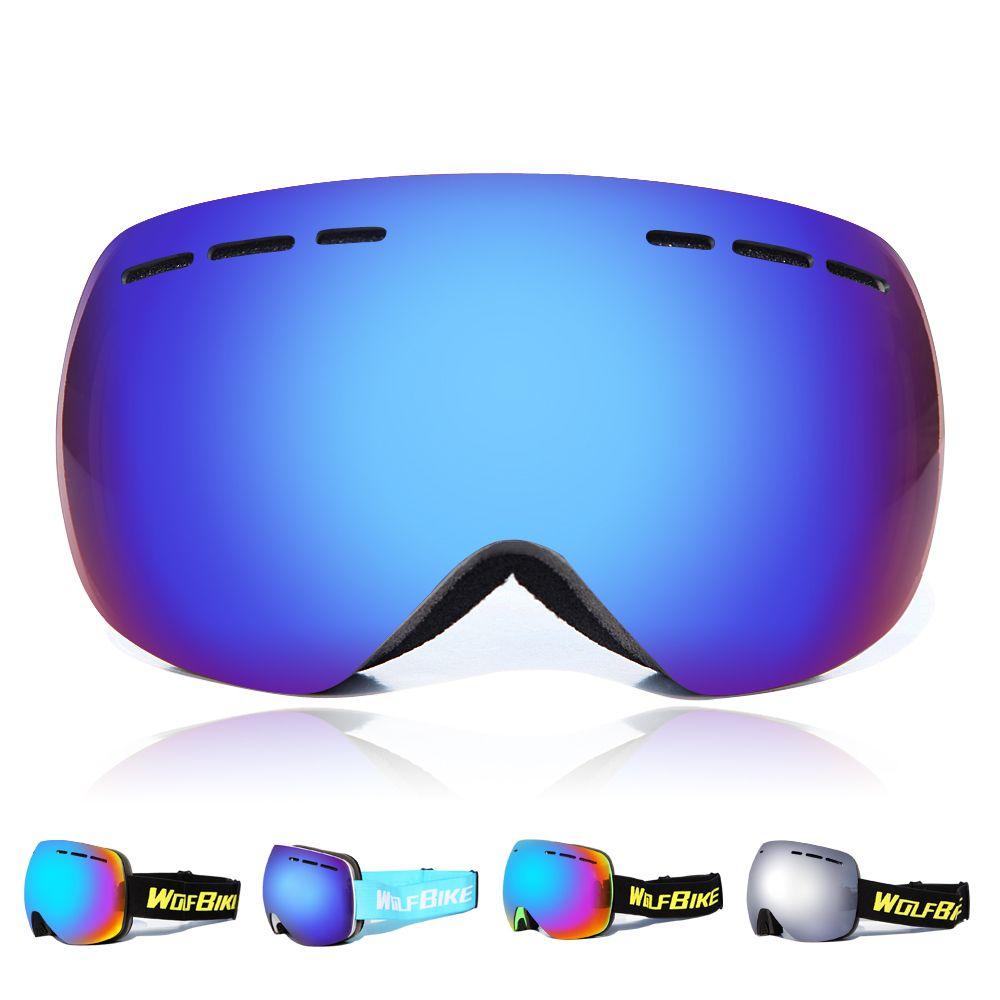 e28499c58c76 WOSAWE Brand Ski Goggles Double UV400 Anti-fog Big Ski Mask Glasses ...