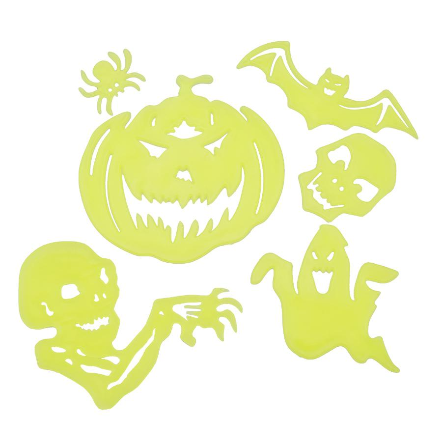 2018 Halloween Luminous Wall Stickers Toys For Kids Halloween Home ...