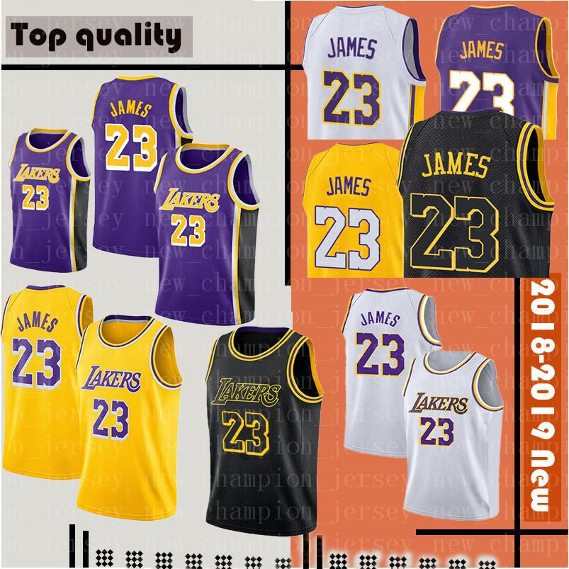 Cheap 2019 New 23 LeBron James Los Angeles Lakers 2 Lonzo Ball 0 Kyle Kuzma  14 Brandon Ingram Basketball Jerseys 8 Kobe Black City dde6fd352