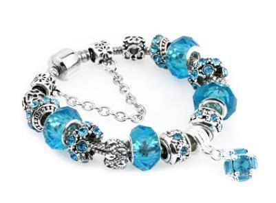 bdcdc0f47 2019 18 19 20 21CM Charm Bracelet 925 Silver Pandora Bracelets For Women  Royal Crown Bracelet Purple Crystal Beads Diy Jewelry With Custom Logo From  ...