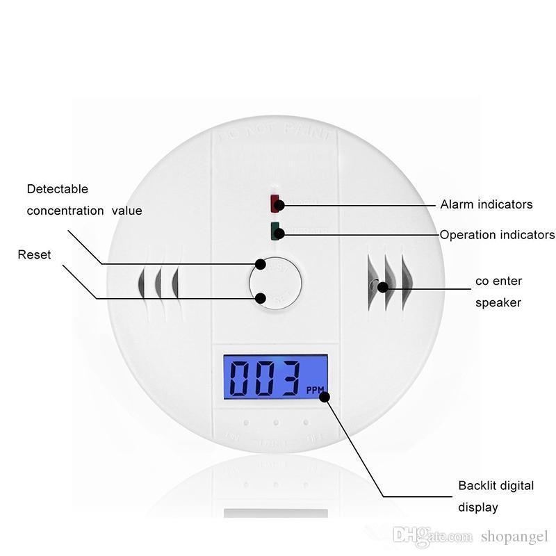 CO Carbon Monoxide Gas Sensor Monitor Alarm Poisining Detector Tester For Home Security Surveillance Hight Quality
