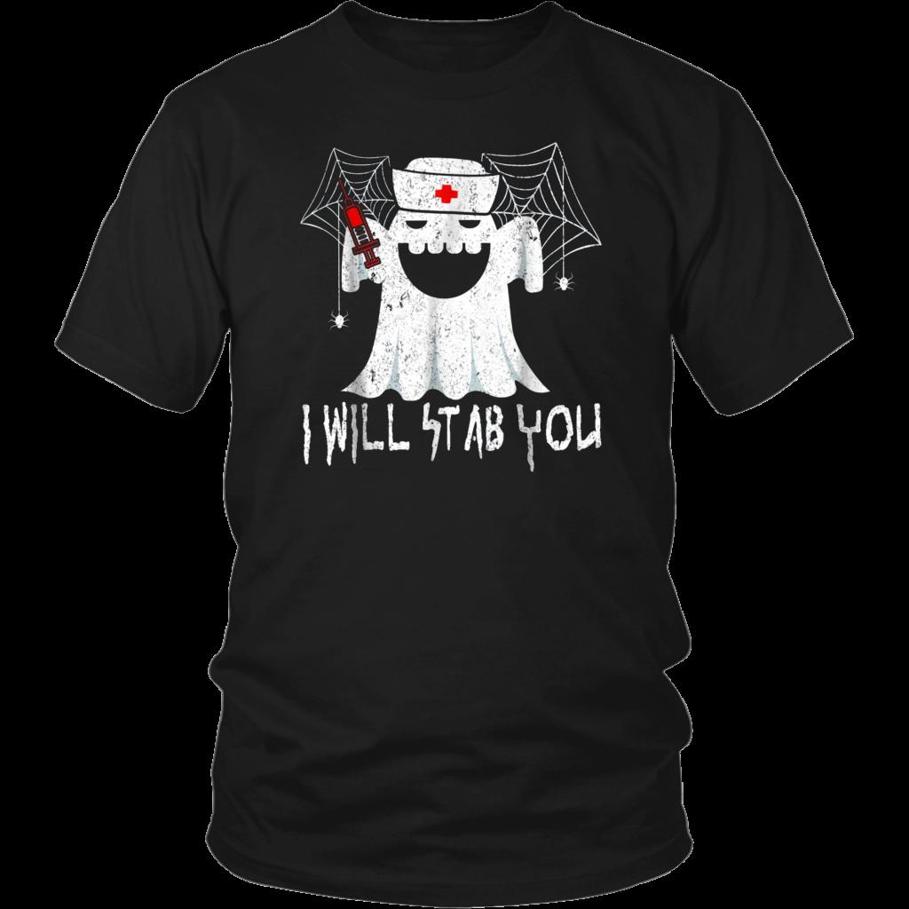 1584d6ef49e41 Nurse Ghost I Will Stab You Unisex Halloween T Shirt Movie Michael Myers  H222 Latest T Shirt Designs Coolest Shirts From Fashiontshirt, $11.17|  DHgate.Com