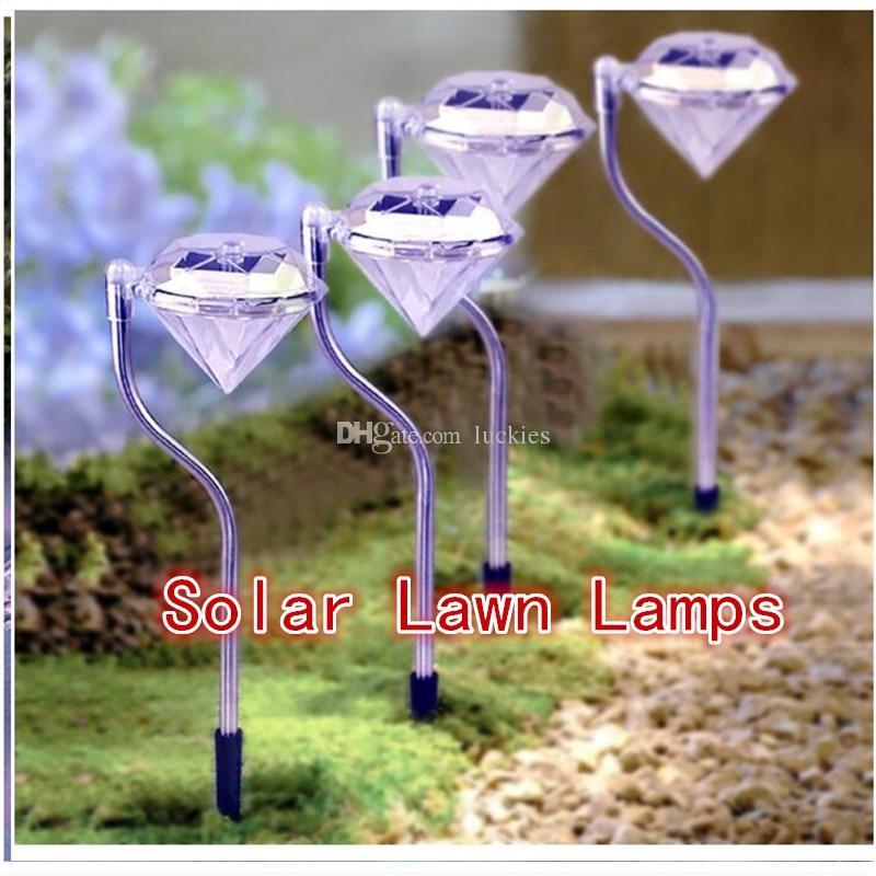 Grosshandel 3 Arten Fuhrte Solar Diamond Lights Farbwechsel Power