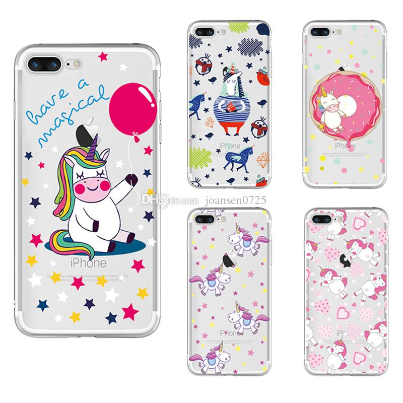 release date: 35e05 d7c4d Preimum Cute Unicorn Phone Case For iPhone 6S 7 8 Plus X Samsung Galaxy S8  S 9 Plus Cases Ultrathin TPU Painted silicone back Cover shell