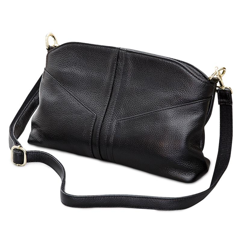 f4d783897f49 2018 New Style Genuine Leather Ladies Luxury Shoulder Bags Head Layer  Cowhide Cross Body Casual Messenger Bag Female Office Bags For Women  Genuine Leather ...