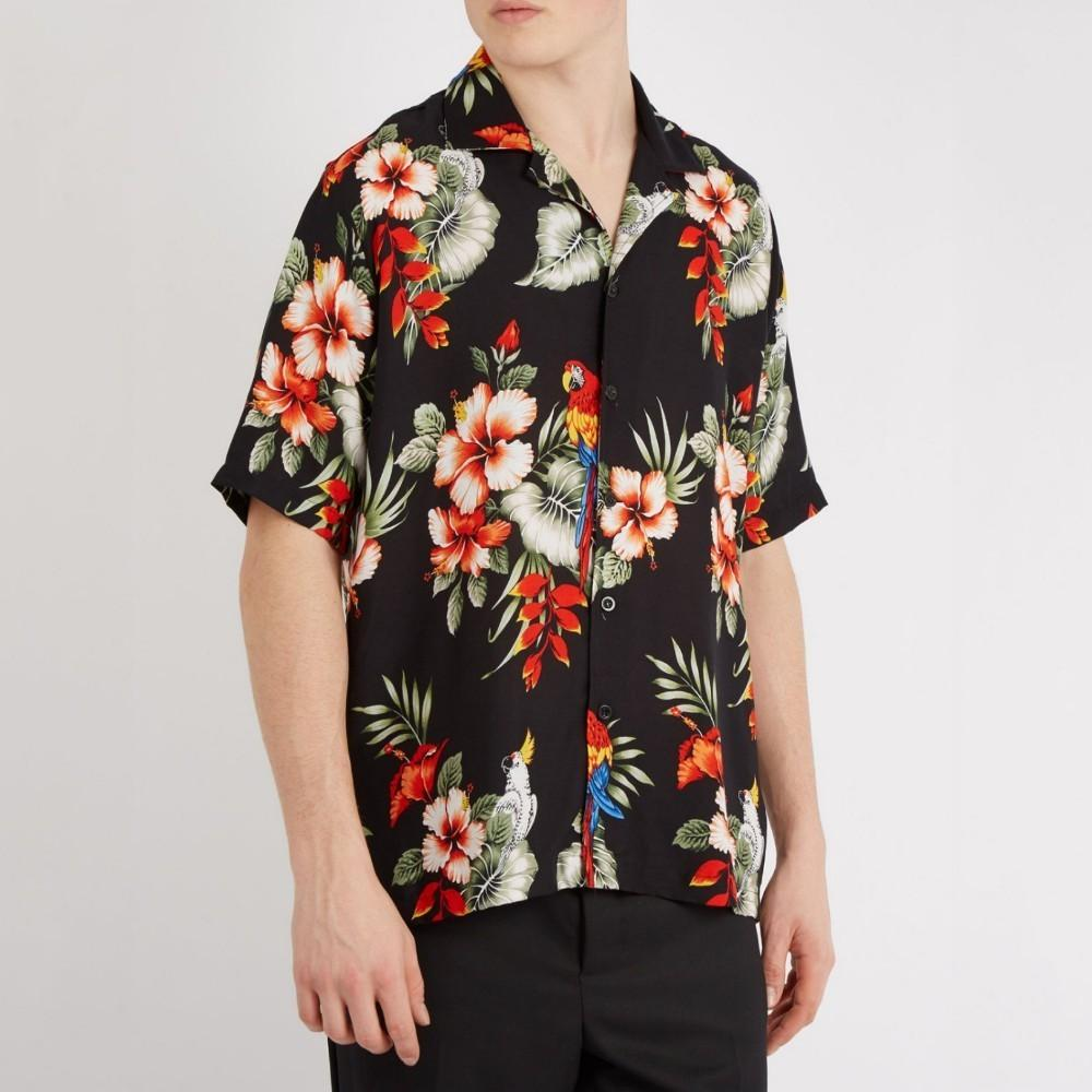 Rhude Floral Short Sleeve Hawaiian Flower Shirt Men Women Summer