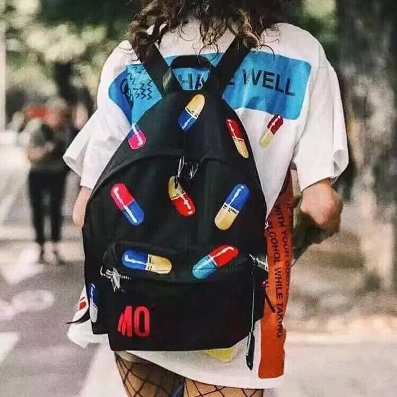 3eabab3d97346 New MOS Capsule Backpack Luxury Brand Men Women Casual Fashion ...