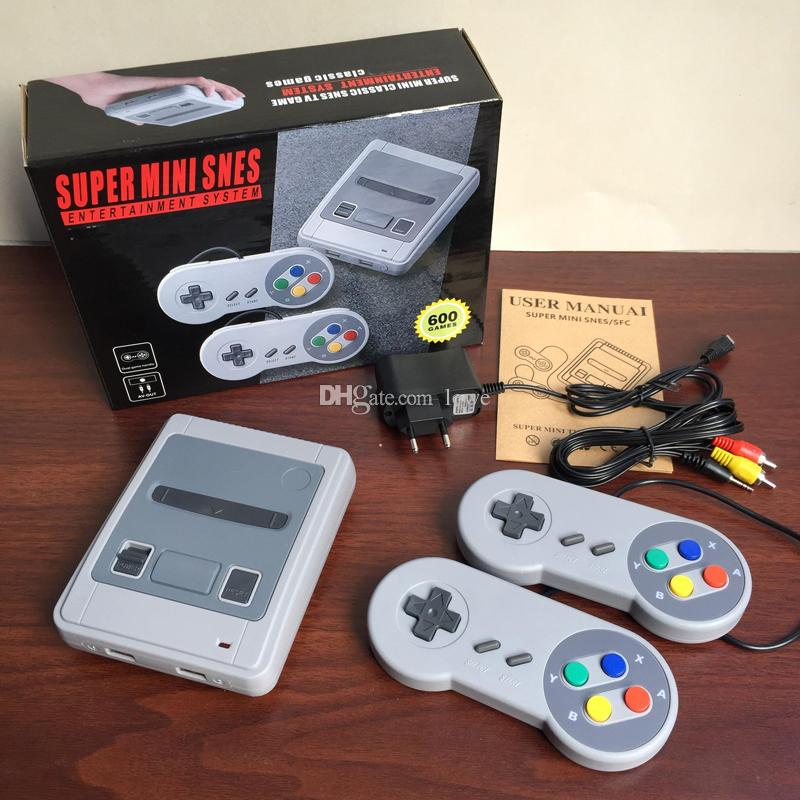 New super classic SFC 8bit mini SNES can store 600 games console nostalgic video game console free shipping