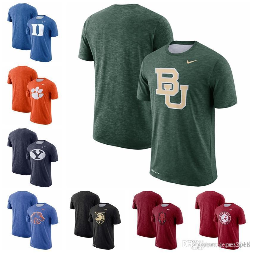 6b106be9b Duke Blue Devils Clemson Tigers Cougars Boise State Broncos Baylor Bears  Army Black Knights Sideline Performance Cotton Slub T-Shirt Arkansas  Razorbacks ...