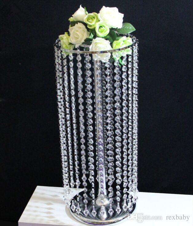 New upscale acrylic crystal bead string chandelier table new upscale acrylic crystal bead string chandelier table centerpieces wedding road lead party event decoration supplies cheap party themes cheapest party aloadofball Choice Image