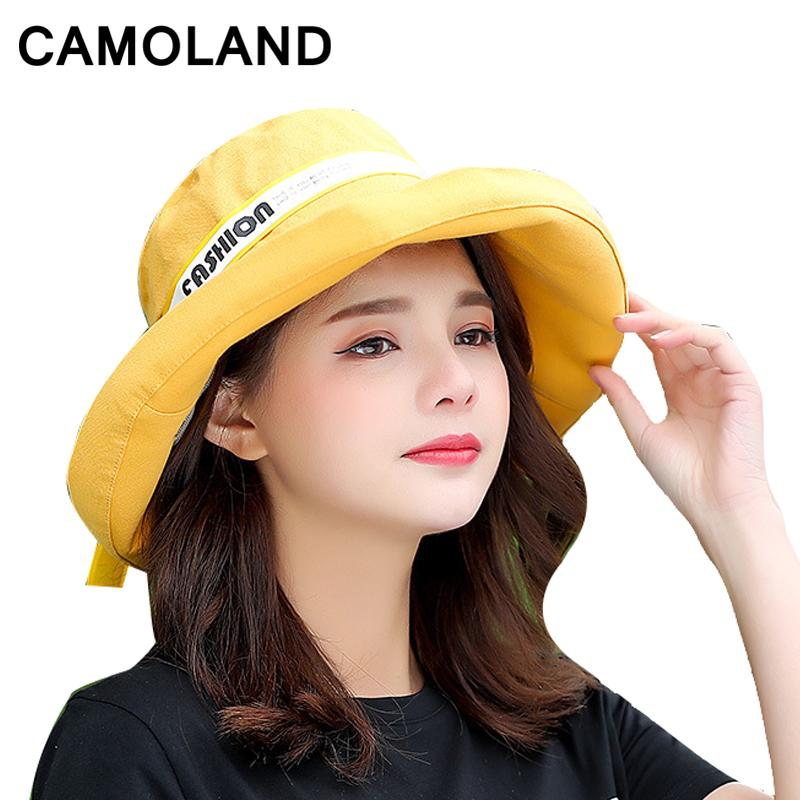 9df0f89f1da Cotton Fashion Bucket Hats Solid Panama Summer Fishing Hat Female Caps Fine  Grid Hat UV Protection Sun Bow Foldable Bow Pink Summer Hats For Women  Bucket ...