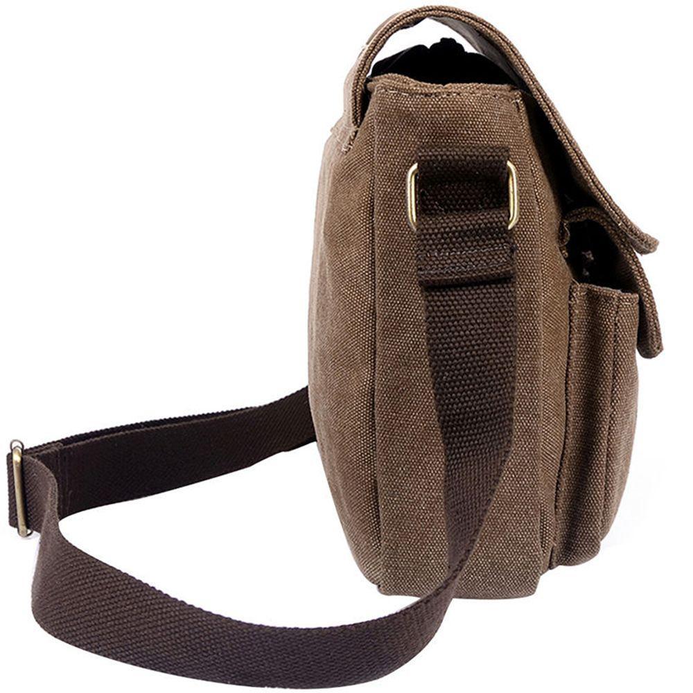 ISKYBOB Vintage Herren Canvas Messenger Schultertasche Military Crossbody Bags Satchel