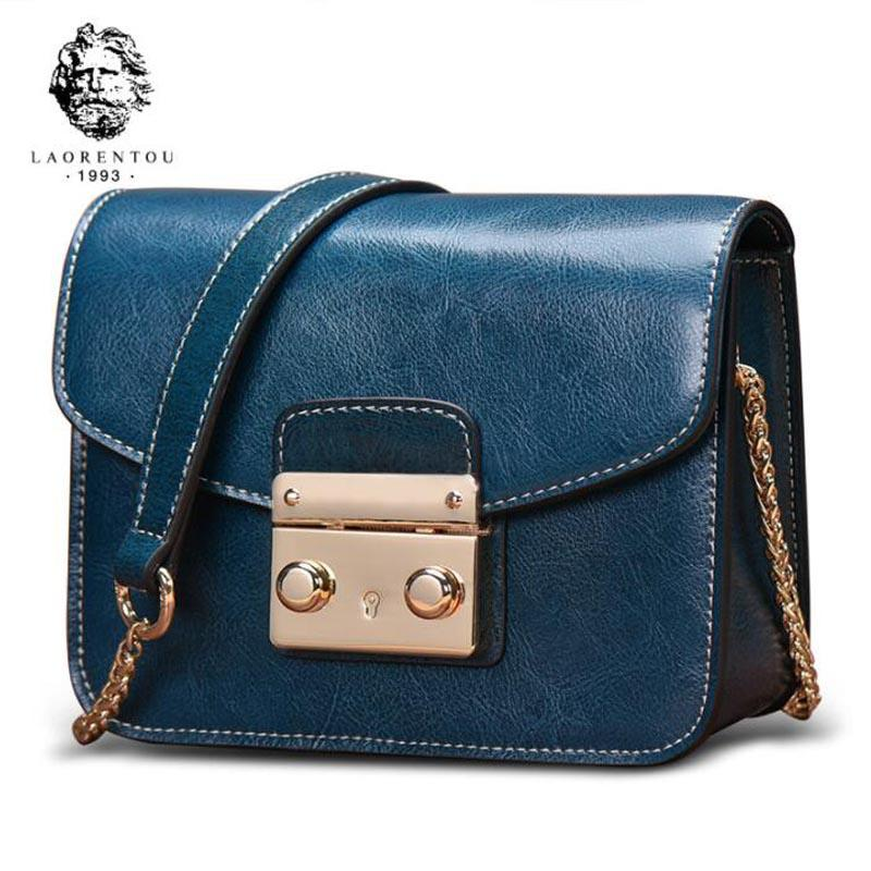 fdae82d1eaf LAORENTOU 2018 New Women Leather Chains Shoulder Crossbody Bags Luxury Handbags  Women Bags Designer Small Leather Shoulder Bag Cheap Purses Handbags For ...