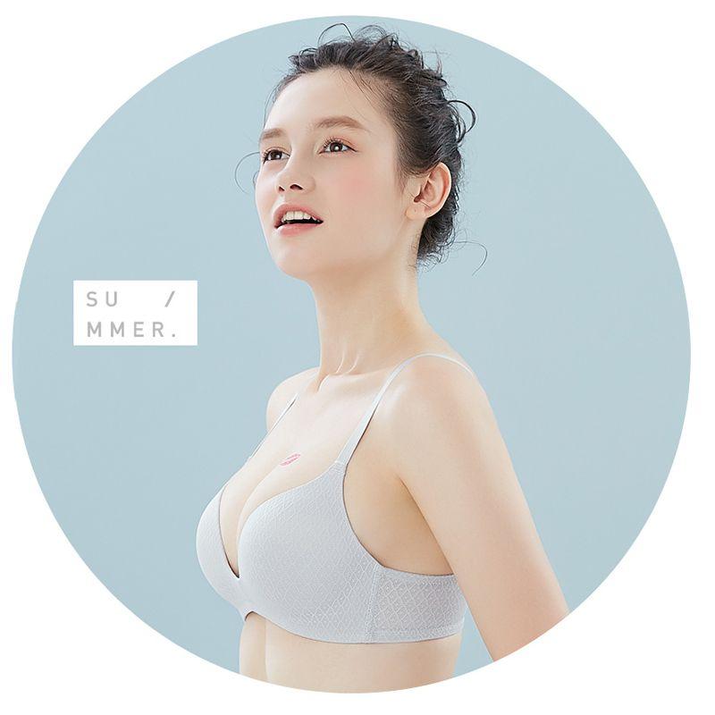 ed967c1dee Semaless Wire Free Bras For Women Thin Cotton Push Up Bra Underwear ...