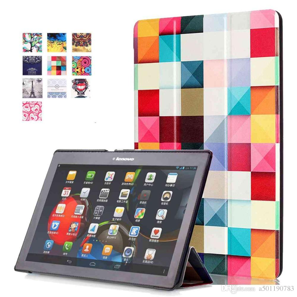 the latest dea8f bbf82 Magnet Stand PU leather Cover For Lenovo TAB3 10 Plus/TAB-X103F/business  TAB2 X30F/TAB2 A10-70F Tablet Case+Stylus Pen+Film.