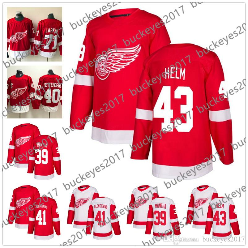 the best attitude 748f3 63f16 Detroit Red Wings 2018 New Brand #39 Anthony Mantha 41 Luke Glendening 42  Martin Frk 43 Darren Helm Stitched White Red Hockey Jerseys