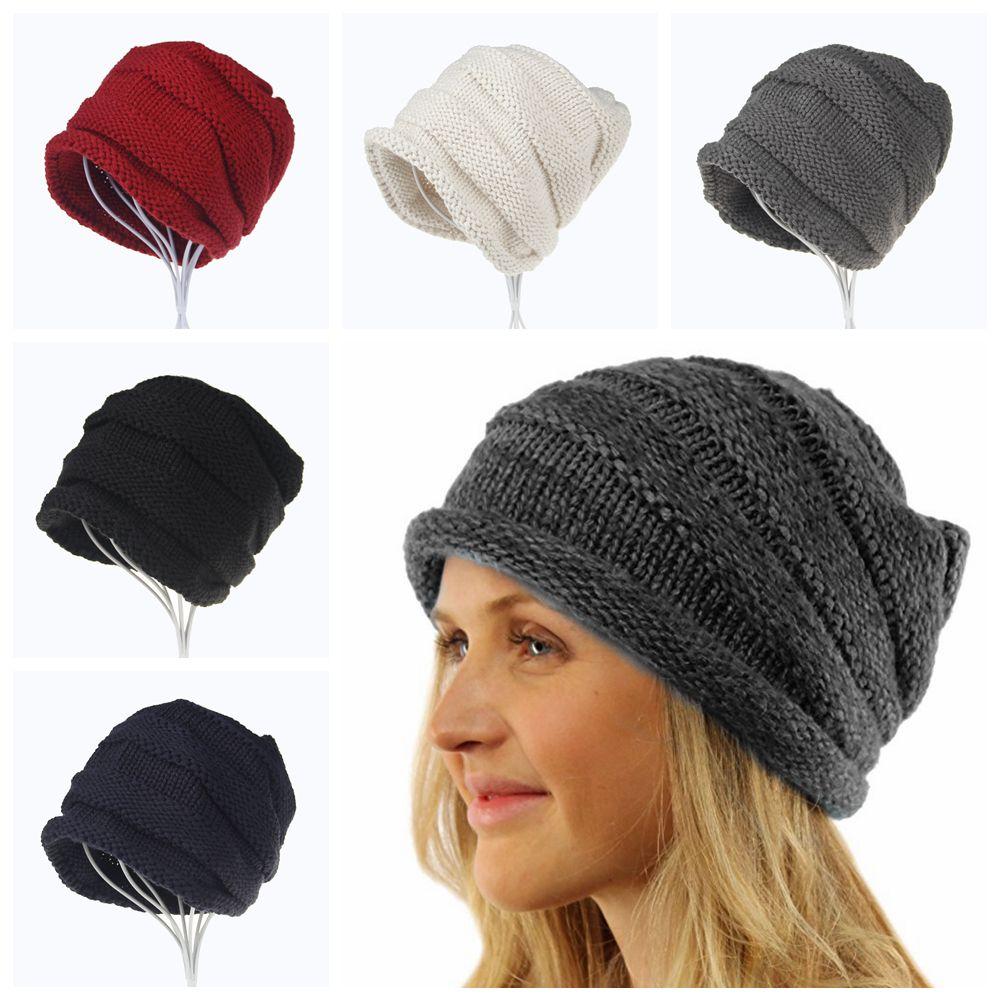 Großhandel 5styles Frauen Ohrenschützer Gestrickt Locken Hut Crimpen