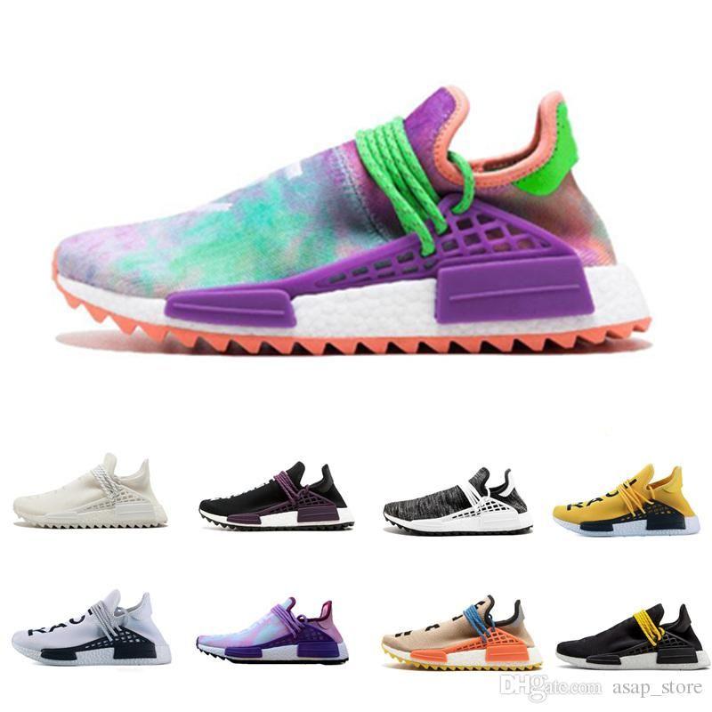 083010c39 Human Race Running Shoes Pharrell Williams Hu Trail Cream Core Black Nerd  Equality Holi Nobel Ink Trainers Mens Women Sports Sneakers Womens Running  Shoes ...