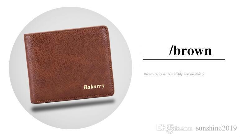 Hot 2018 Selling Men's PU Leather Card Cash Receipt Holder Organizer Bifold Wallet men Purse Business Wallets Wholesale