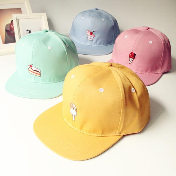 2019 Snapback Caps 2018korean Cap Men New Spring Summer Ice Cream  Embroidered Baseball Cap Hip Hop Hat Hats For Men Women From Htzyhstore 2df4033895de