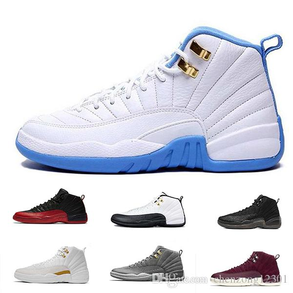 2f5b6f3d2d53b2 12 12s Mens Basketball Shoes OVO White Gym Red Dark Grey Designer Shoes  Taxi Blue Suede Flu Game CNY Basketball Shoes For Sale Basketball Shoes  Women From ...