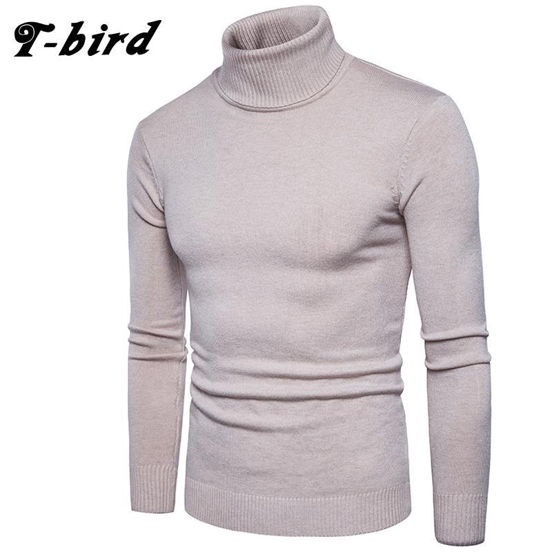 Compre T Bird 2017 Ropa De Moda Hombres Suéter Simple Color Sólido ...
