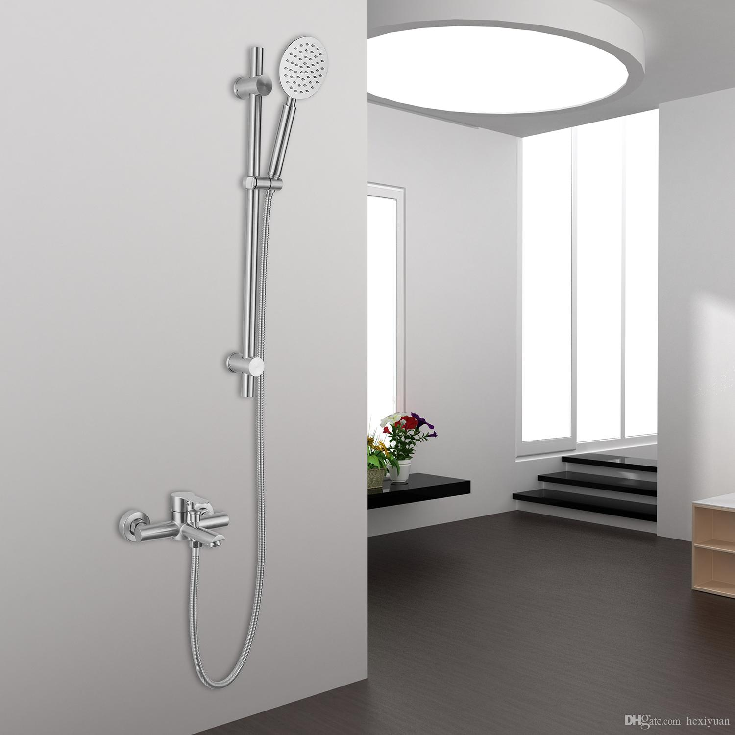 2018 304 Stainless Steel Bathtub Shower Faucet Bathroom Shower Hot And Cold  Faucet From Hexiyuan, $77.39 | Dhgate.Com