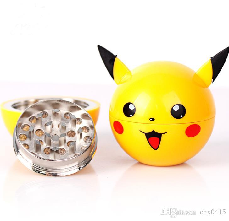 New type cigarette grinder three layers of cartoon metal zinc alloy grinder