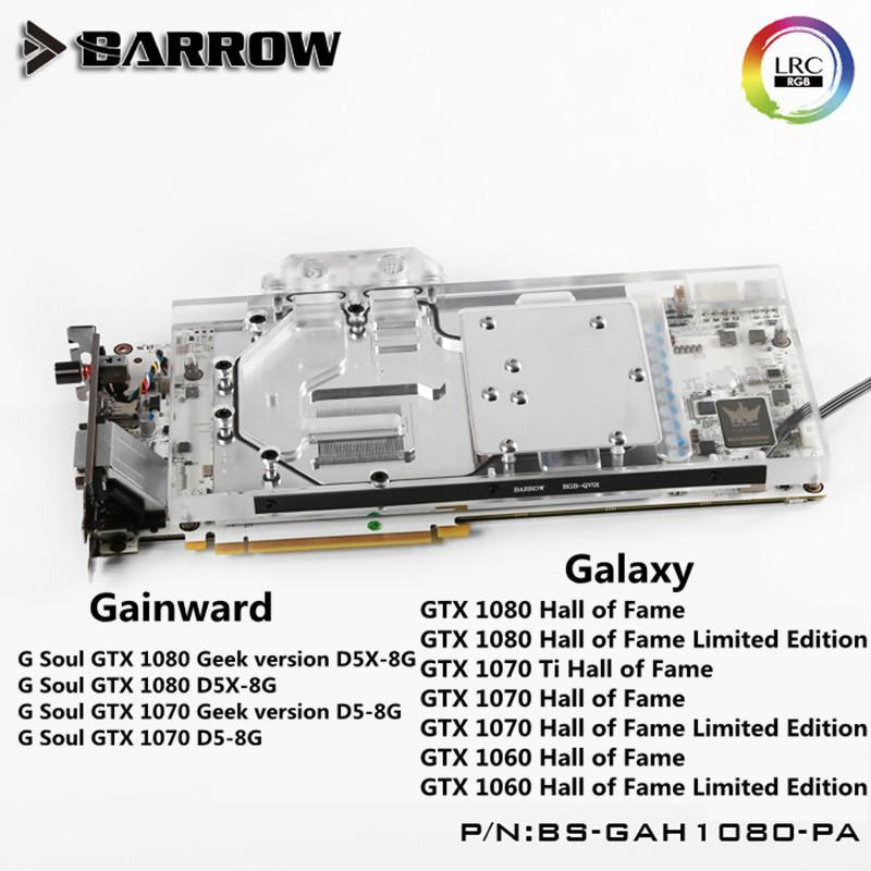 Barrow Galaxy GTX1080/1070/1060 GAINWARD HOF GPU Water Cooling Block For  BS-GAH1080-PA