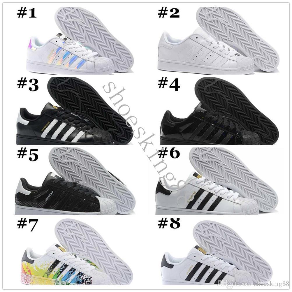 Baskets 45 Femmes 36 Iridescent Junior Hommes Chaussures Hologramme Superstar Pride Star Sport 80 Originaux S 2018 Super Course Superstars De Blanc WD29EeHYI