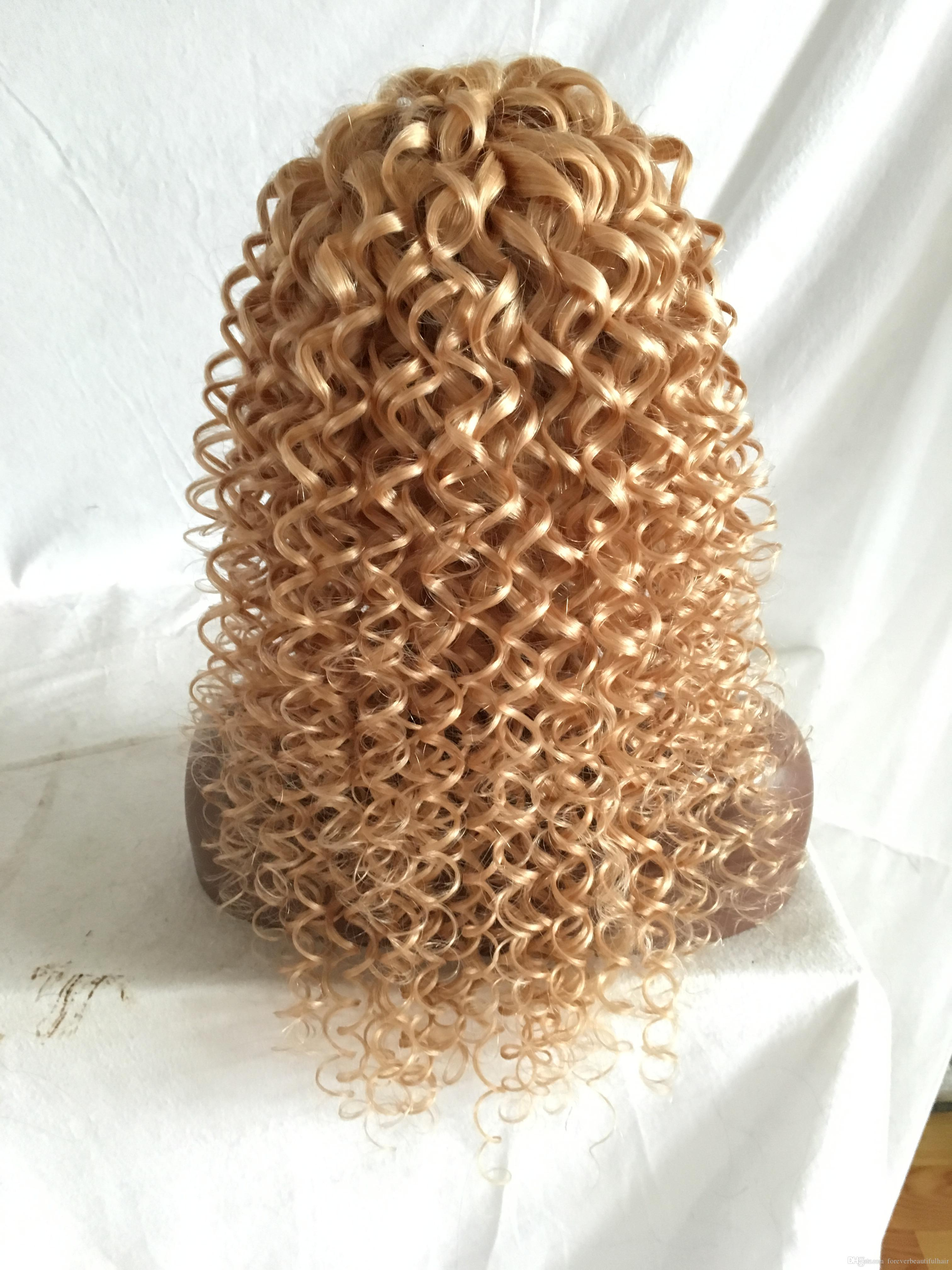 #613 Blonde Lace Front Human Hair Wigs For White Women Curly Brazilian Virgin Hair Full Lace Wigs With Baby Hair Natural Hairline