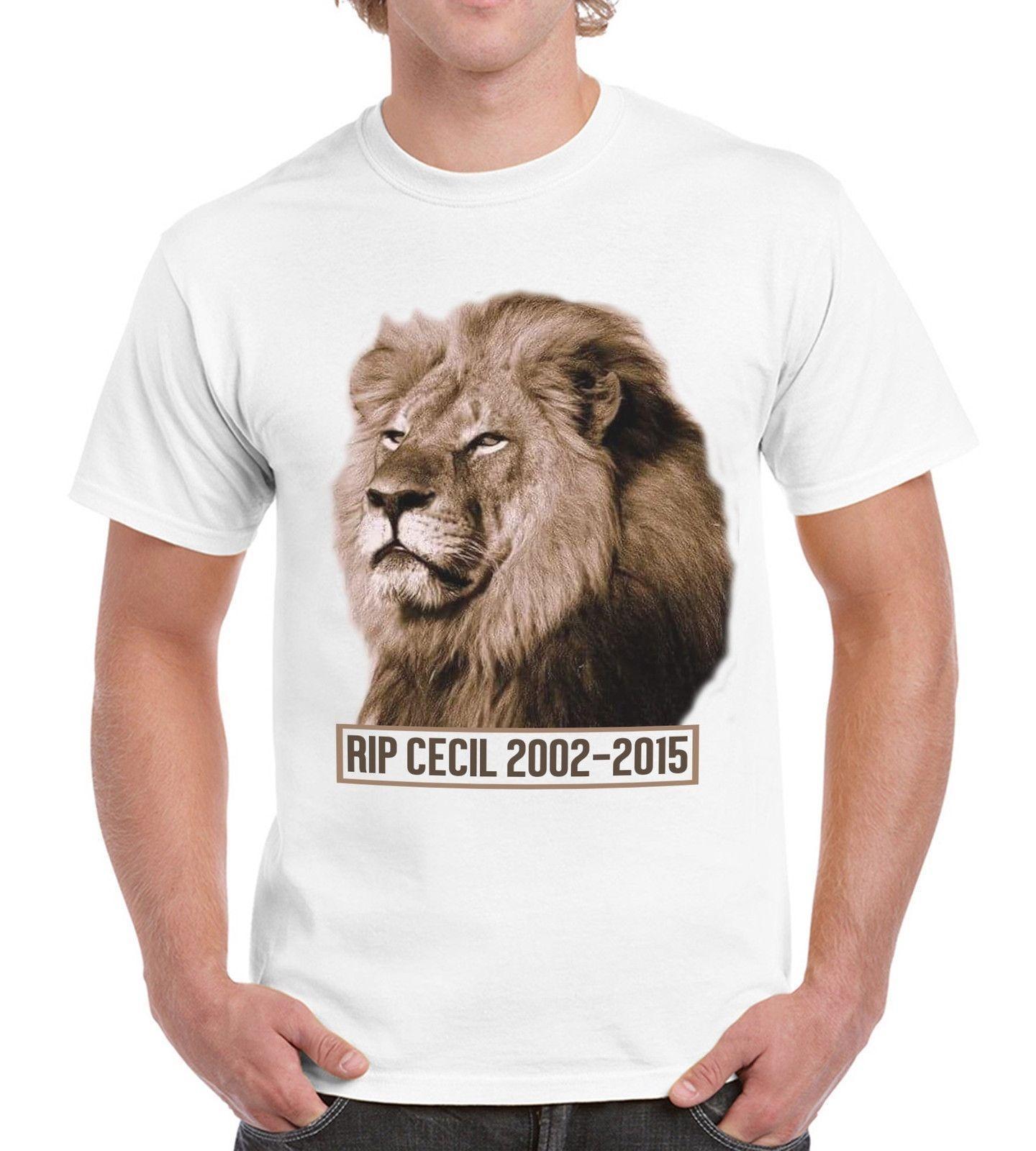9cb6d7ed90848 Großhandel RISS Cecil Das Tier Rechte T Shirt Der Löwe Afrika Männer T Shirt  Der Frauen Mord Grausames Von Dxpstore33, $11.63 Auf De.Dhgate.Com | Dhgate
