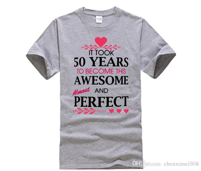 Fashion Brand T Shirt Womens 50th Birthday Gifts For All Took 50 Years Printing Short Sleeve Shirts Printed White Shop