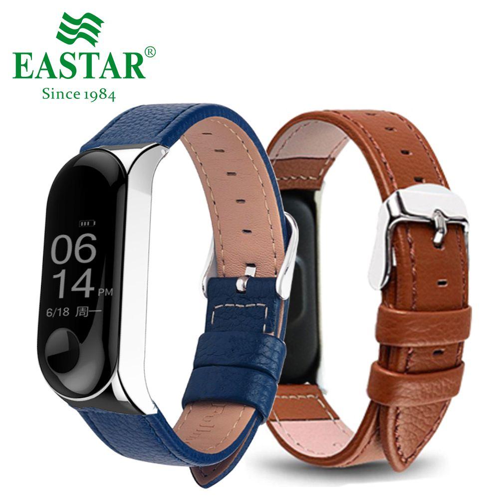 ecfafa324c8 Compre Eastar Couro Colorido Smart Watch Band Para Xiaomi Mi Banda 3  Acessórios Inteligentes Para Xiaomi Miband 3 Pulseira Pulseira De  Spectalin