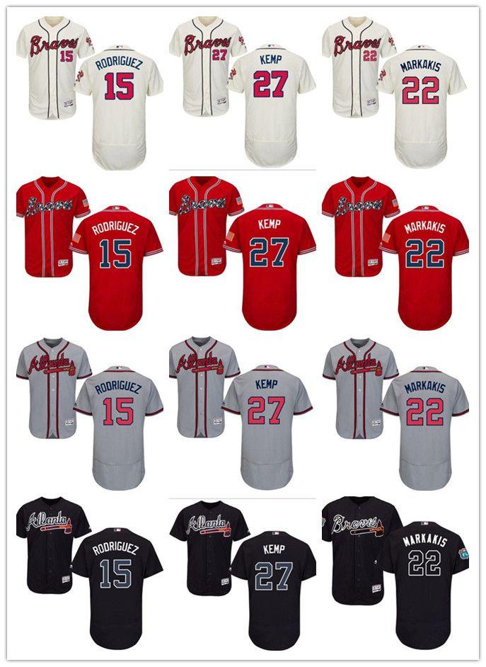 c803a3d50 2019 Custom Men Women Youth Atlanta 2019 Braves Jersey #15 Sean Rodriguez  22 Nick Markakis 27 Matt Kemp Home Blue Red Baseball Jerseys From Tenplus,  ...